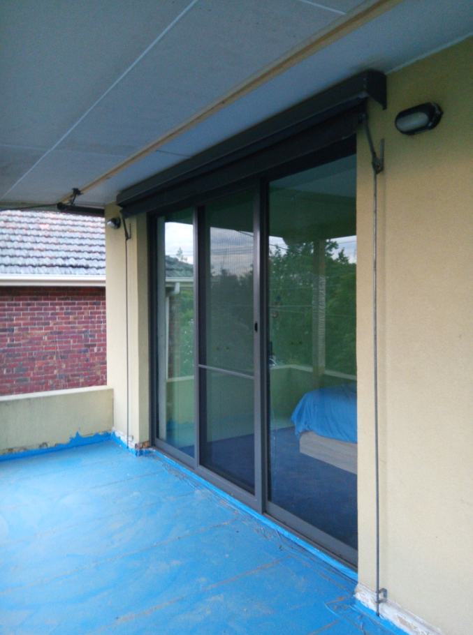 Aluminium sliding door Replaced